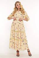 Симпатичное женское платье большого размера с кружевом, размер 52-58