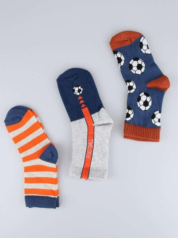 Носки детские  для мальчика высокие демисезонные с рисунком Bross .(Football)