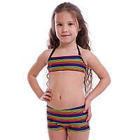 Купальник для плавания раздельный детский Arena RAINBOW возраст 6-14 лет Синий 6 лет PZ-AR-15670_1