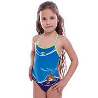 Купальник для плавания слитный детский Arena MADEUP KIDS возраст 2-5 лет синий-оранжевый 2-3 года PZ-AR-23171-33_1