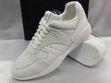 Стильные весенние кожаные кроссовки белые Bertoni, фото 6