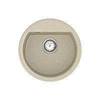 Мойка кухонная кварцевая круглая VANKOR Easy EMR 01.45 Beige