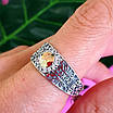 Серебряное кольцо Спаси и Сохрани с золотом, фото 5