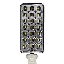 Настольная светодиодная лампа YAGE YG-5913C Бело-черная компактная слаживаемая питание от сети аккумулятора, фото 2