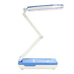 Настольная светодиодная лампа YAGE YG-5913C Бело-Синяя от сети аккумулятора LED компактная