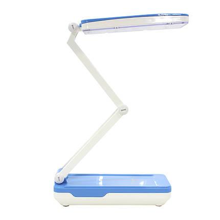 Світлодіодна лампа настільна YAGE YG-5913C Біло-Синя від мережі акумулятора LED компактна, фото 2