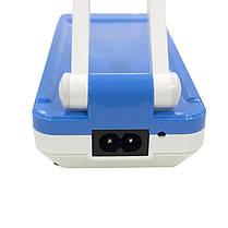 Світлодіодна лампа настільна YAGE YG-5913C Біло-Синя від мережі акумулятора LED компактна, фото 3