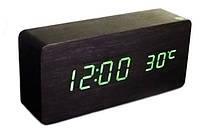 Часы настольные ET 010 3792 с зеленой подсветкой