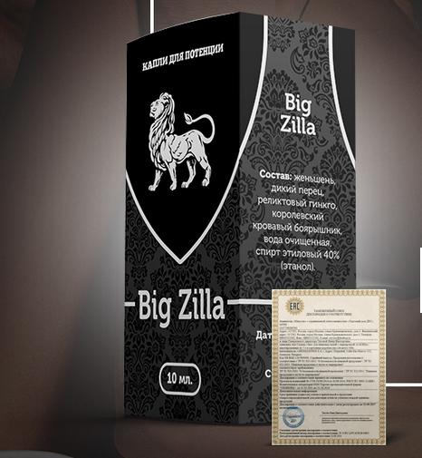 Big Zilla краплі для потенції (Біг Зилла)