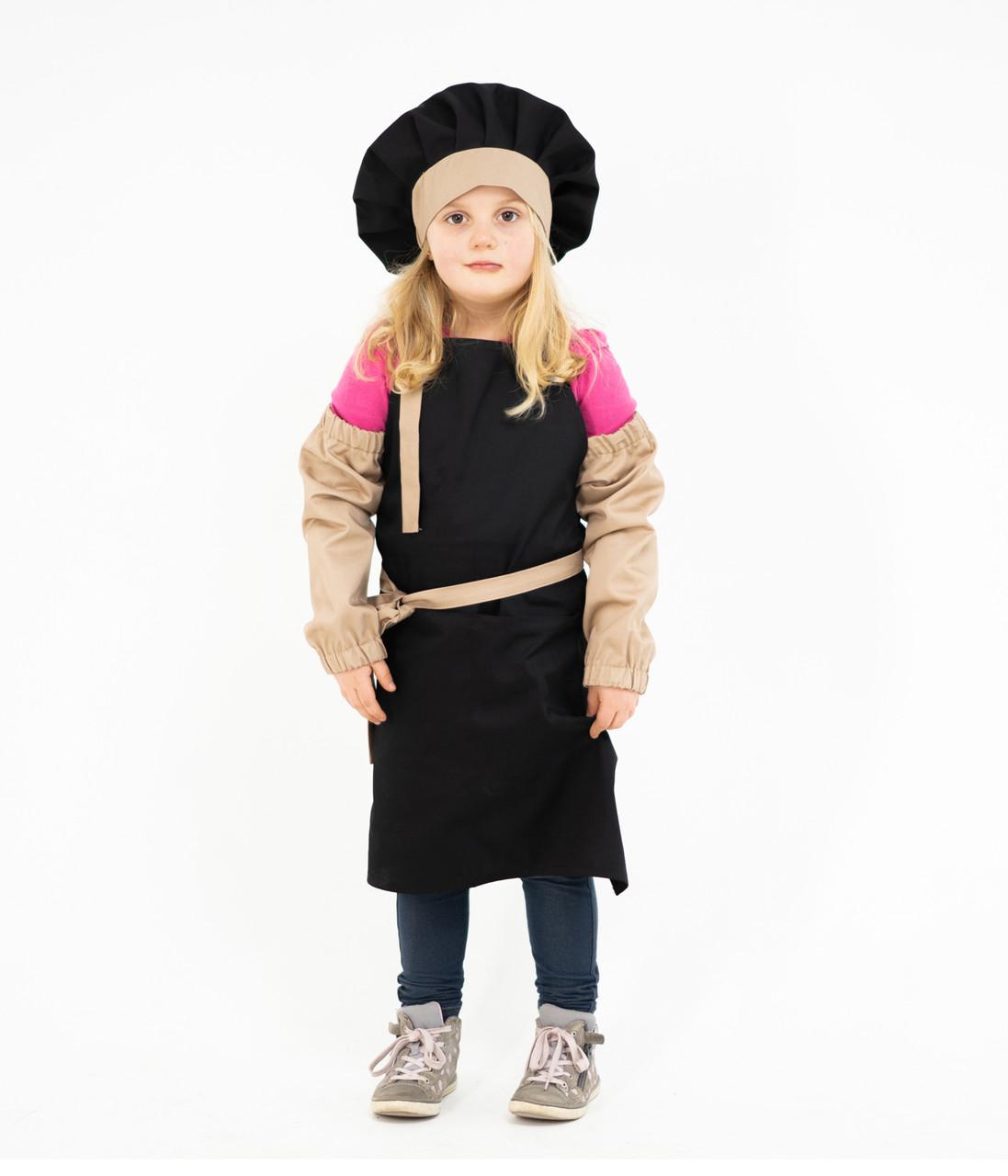 Комплект дитячий Latte Junior 7-12років | Фартух + Ковпак + Нарукавники
