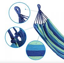 Гамак подвесной бразильский тканевый (без перекладины) 200х80 см с чехлом, фото 2