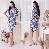 Женское платье с цветами норма