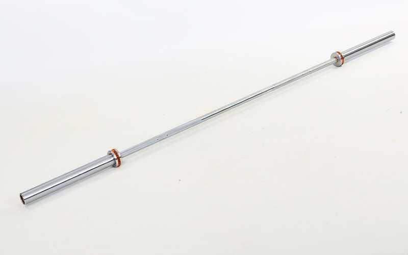 Гриф для штанги Олимпийский профессиональный для Кроссфита (l-2,18м, рук.d-50мм, 20кг)OB86PM