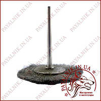 Щетка металлическая торцовая, диаметр 40мм, на валу 2,4мм.