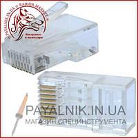 Конектор інтернет 8р8с (RJ-45) штекер під обтиск (normal quality)
