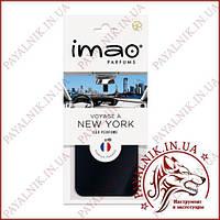 """Ароматизированная карта (освежитель воздуха) IMAO """"VOYAGE À NEW YORK"""" 11g. Made in France."""