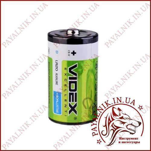 Батарейка Videx 1.5V LR20 D Alkaline