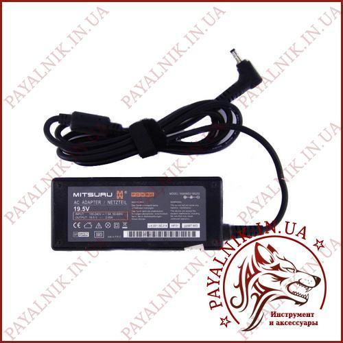 Блок питания MITSURU для ноутбука 19.5v 2.05a 40w (YA65WS3-195205) (3.8-4.0/1.7мм) ORIGINAL Б/У