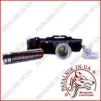 Фонарик налобный X-Balog от аккумулятора Li-on 18650 BL-5808-T6 зарядка от Micro USB