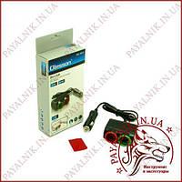 Автомобільний розгалужувач прикурювача Olesson 1631 (120W, 2 гнізда 12v/24v, USB, підсвітка)