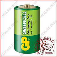 Батарейка GP Greencell 1.5V солевая R14, C, (14G-S2)