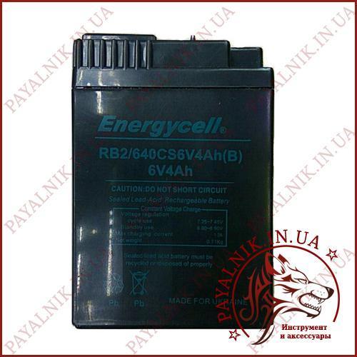 Аккумулятор Energycell 6v 4ah с вырезом (плоские контакты)