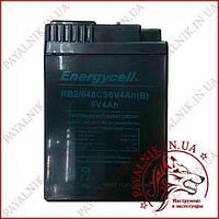 Акумулятор Energycell 6v 4ah з вирізом (плоскі контакти)
