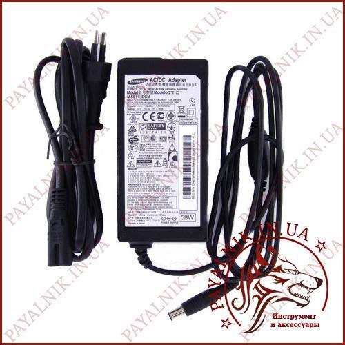 Блок питания Samsung 14v 4.143a 58w (model A5814_DSM) (штекер 6.0/4.4мм) ORIGINAL новый