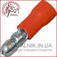 Клемма кабельная круглая 0,5-1,5мм. диаметр 4мм, красная, (1шт.) (40-0601)