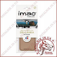 """Ароматизированная карта (освежитель воздуха) IMAO """"DECOUVERTE DU SRI-LANKA"""" 11g. Made in France."""