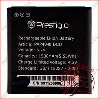 Аккумулятор для телефона Prestigio PAP4040 DUO 1500mah