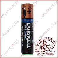 Батарейка Duracell Turbo max 1.5 V LR03, AAA, (MX2400) alkaline