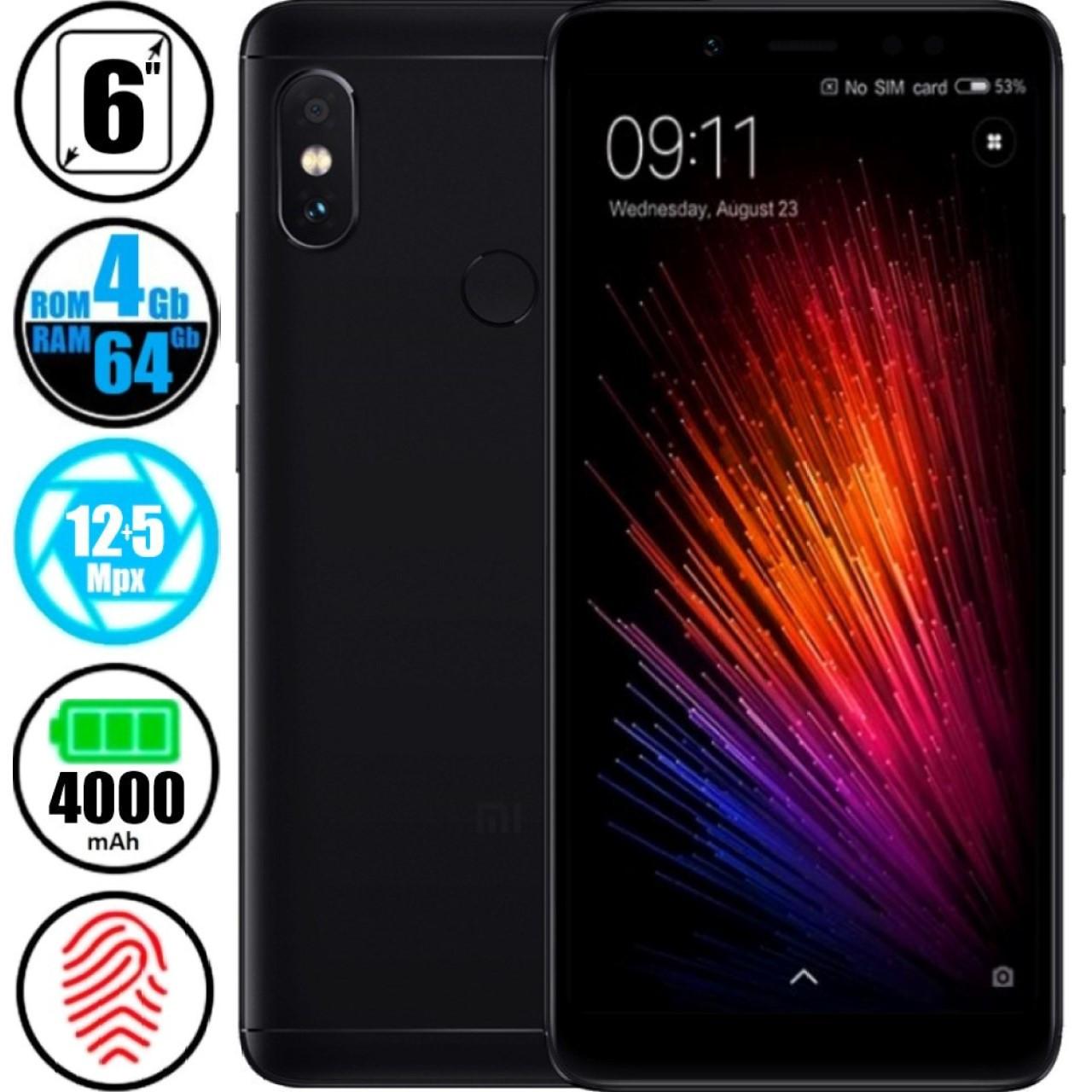 Смартфон Xiaomi Redmi Note 5 (4/64Gb) Black - Global Version