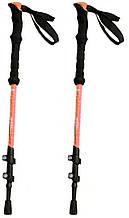 Палки для скандинавской ходьбы облегченные 5244 оранжевые, 2 шт