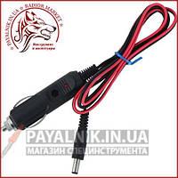 Автомобильный штекер с кабелем 1 метр, штекер DC 5,5/2,1мм