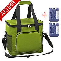 Сумка-холодильник 20 л Time Eco TE-320S, зеленая (термосумка, изотермическая сумка для напитков и продуктов)