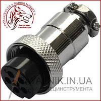 Роз'єм MIC 326, (гніздо), монтажний, 6 pin, діаметр - 16мм (1-0417)