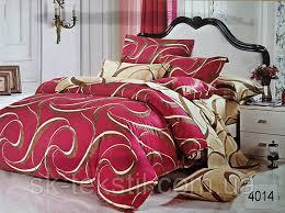 Сатиновое постельное белье евро  ELWAY 4014