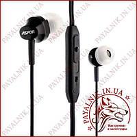 Навушники ASPOR A201 EARPLUGS BLACK