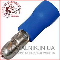 Наконечник круглый (штекер) с изоляцией 1,5-2,5кв.мм, диам-4мм, синий (1шт.) (MPD2-156) (40-0602)