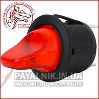 Переключатель-тумблер MRS-103-9H ON-OFF-ON 3-х контактный, 6A, 220V, красный (11-0432)