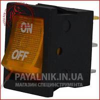 Переключатель с подсветкой MIRS-101-2 ON-OFF 3-х контактный, 6A, 220V