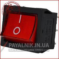 Переключатель широкий с подсветкой MIRS-202-4 ON-ON 6-и контактный, 6A, 220V