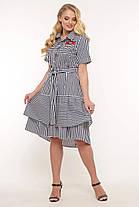 Кокетливое платье большого размера в полоску, размер 52-58, фото 3