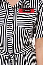Кокетливое платье большого размера в полоску, размер 52-58, фото 2