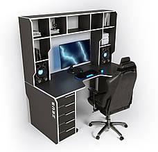 Геймерский игровой компьютерный прямой эргономичный стол ZEUS™ / ЗЕУС™ Viking III / Викинг 3 L 180х92(87)