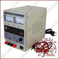 Блок живлення лабораторний AIDA 1503D+, 15V, 3A, стрілкова і цифрова індикація, RF, 9V, USB 5V