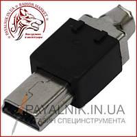Штекер mini USB 5pin под шнур, разборной 1-1031