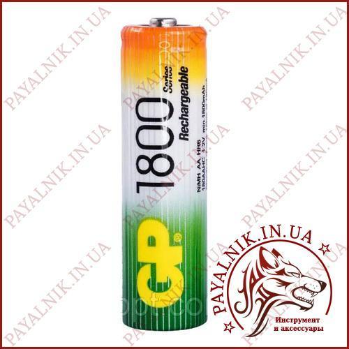 Аккумулятор GP Ni-MH AA HR6 1.2V 1800mAh (1шт.)