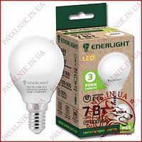 Лампа светодиодная ENERLIGHT P45 7W 4100K E14